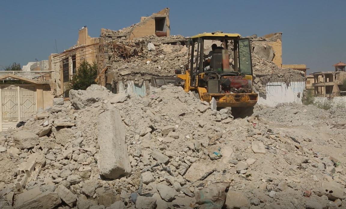جرافة إعادة إعمار سوريا