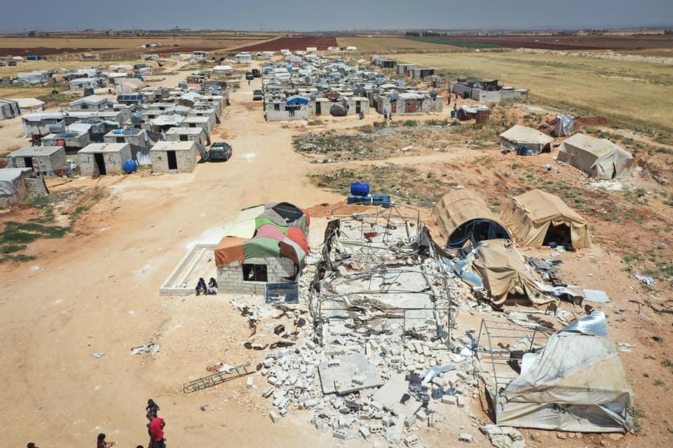 مخيم الأبرار ريف إدلب قصف